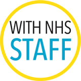 With NHS staff